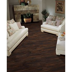 Shop Style Selections 496 In W X 423 Ft L Dark Walnut Smooth Wood Plank Laminate Flooring At Lowes
