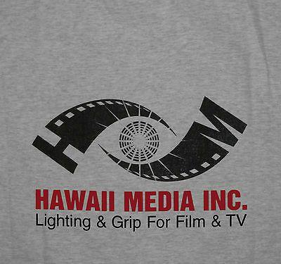 Hawaii Media Lighting Grip Film TV T-shirt Large New