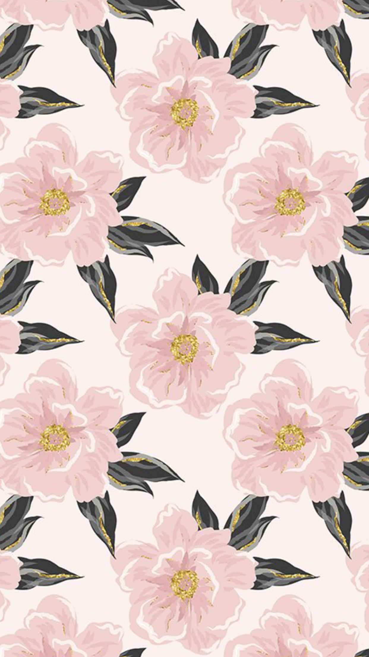 Flowers Pattern Pink Pastel In 2019 Flower Background