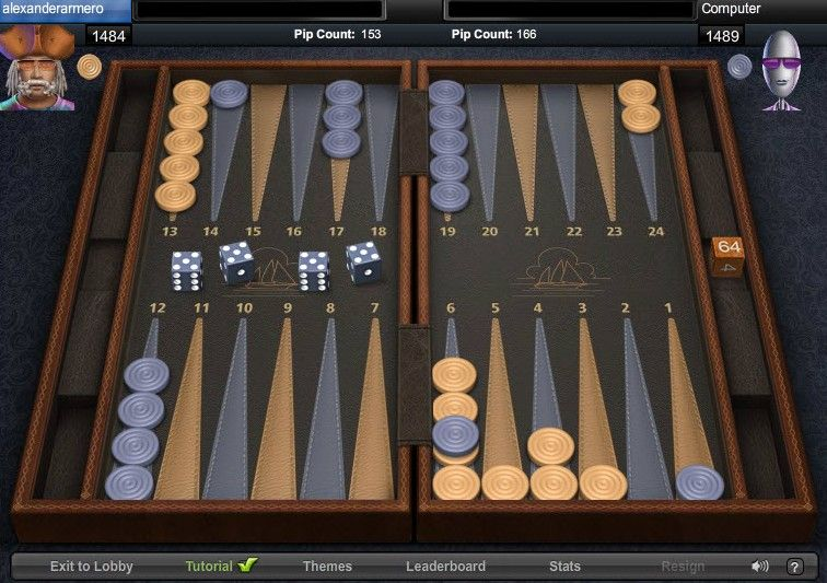Backgammon 2 player same computer online Backgammon
