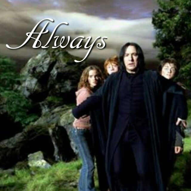 No matter what he will always protect them, he will always protect him; even if that means looking over them from above.  Snape❤