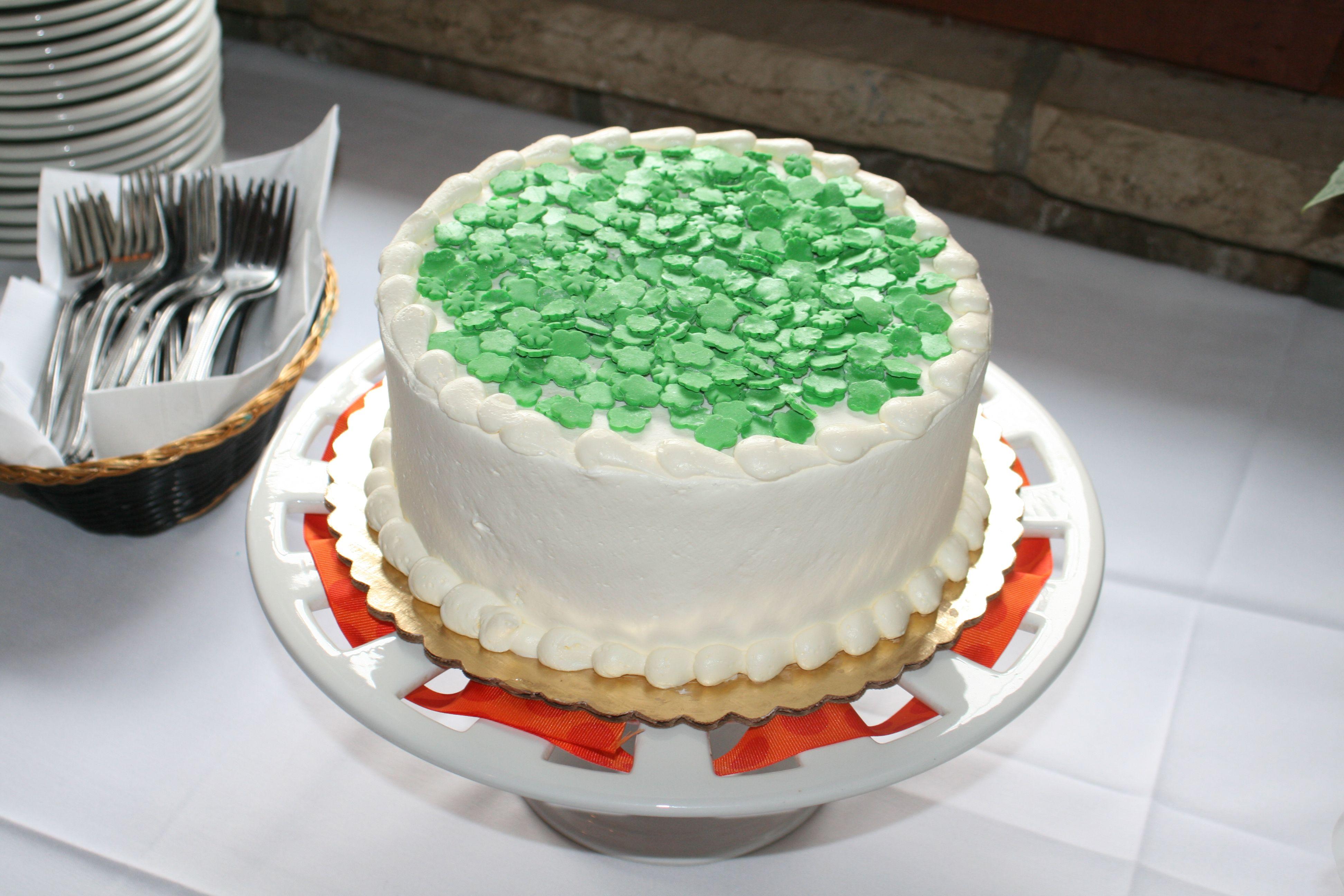 Irish baby shower cake irish baby shower