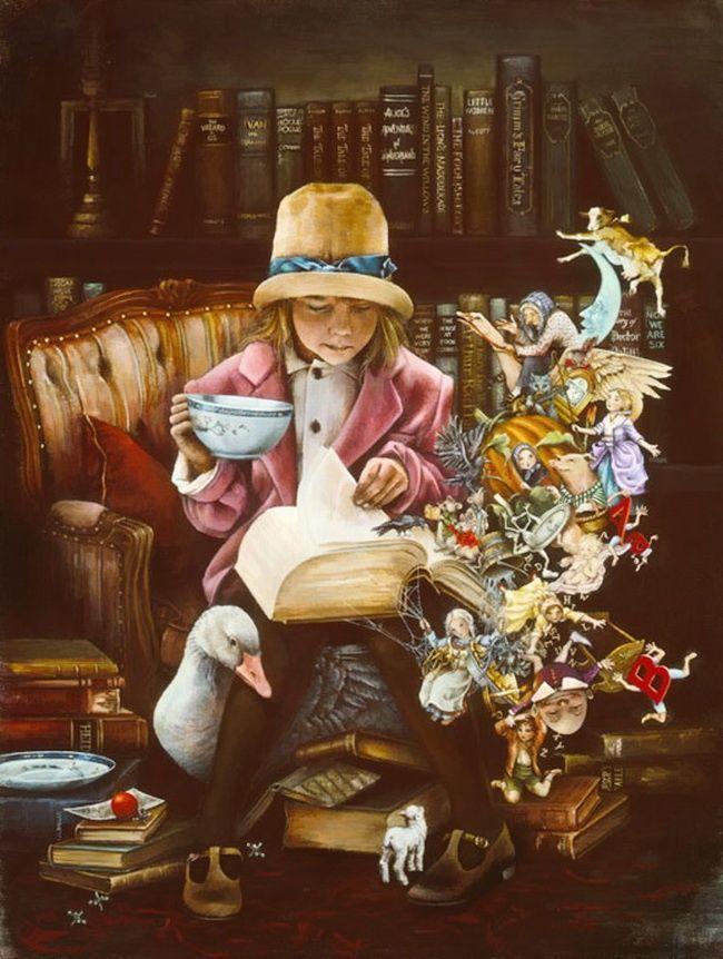 Книги в иллюстрациях Лори Пройш (Lori Preusch)