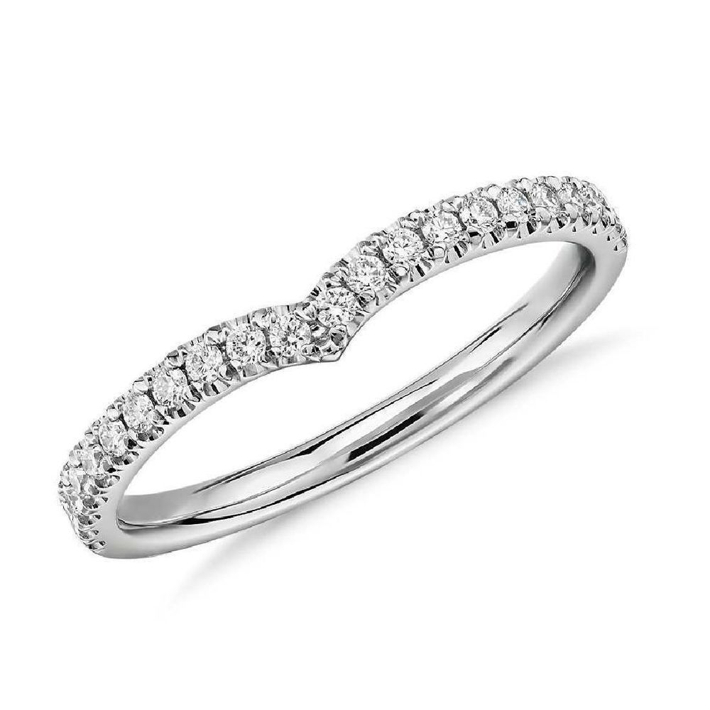 IGI Certificate 1/4Ct Micro Pave Round Diamond Half