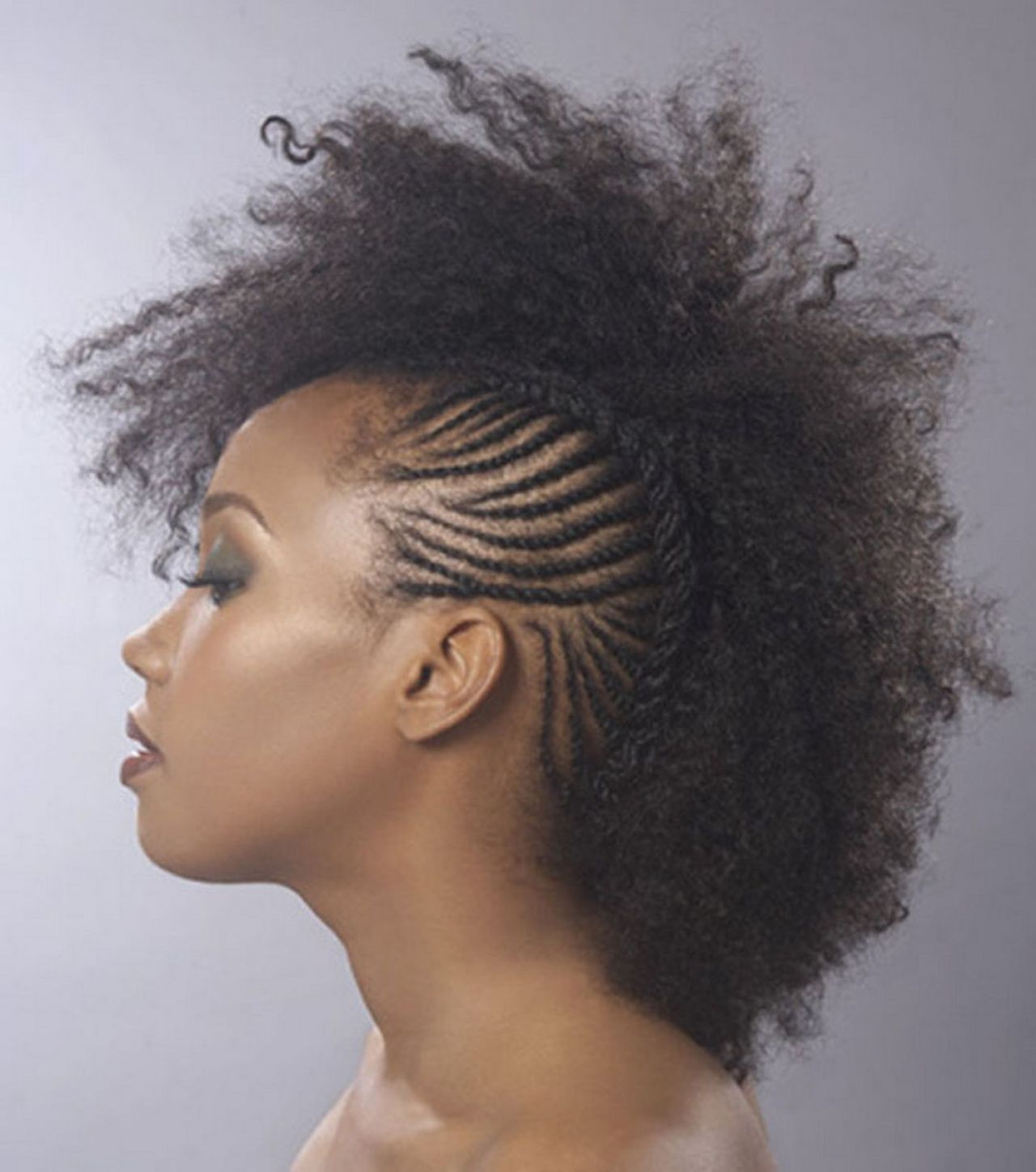 mohawk hairstyles black women | braids,twists&crochet styles