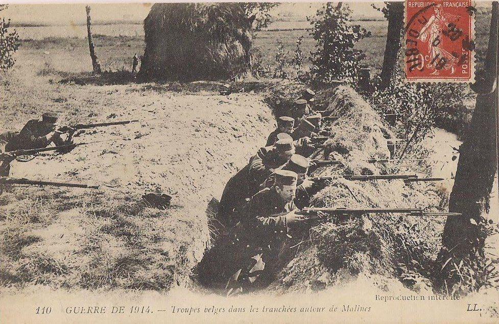 WW1, Belgian troops in the trenches. -La première guerre mondiale - Site consacré à la ville d'Outreau