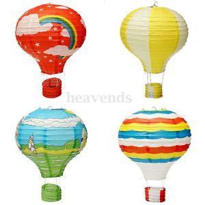 Hei luftballon reispapier lampion lampenschirm h ngeleuchte ballon dekoration h1 kinderzimmer - Lampions kinderzimmer ...
