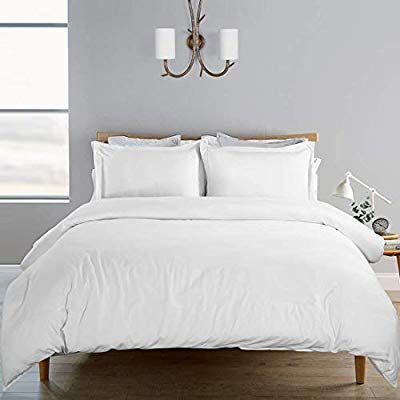 Photo of Amazon.com: SORMAG 100% Washed Cotton Duvet Cover 3 Piece, Comforter Cover Queen…