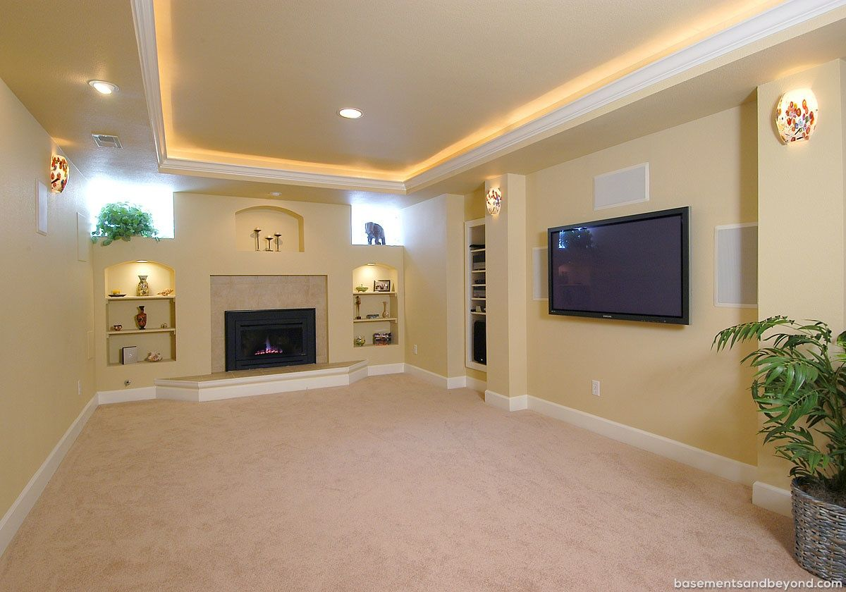 A Nice Tray Ceiling With Low Voltage Lighting Around The Perimeter And Arched Top Build