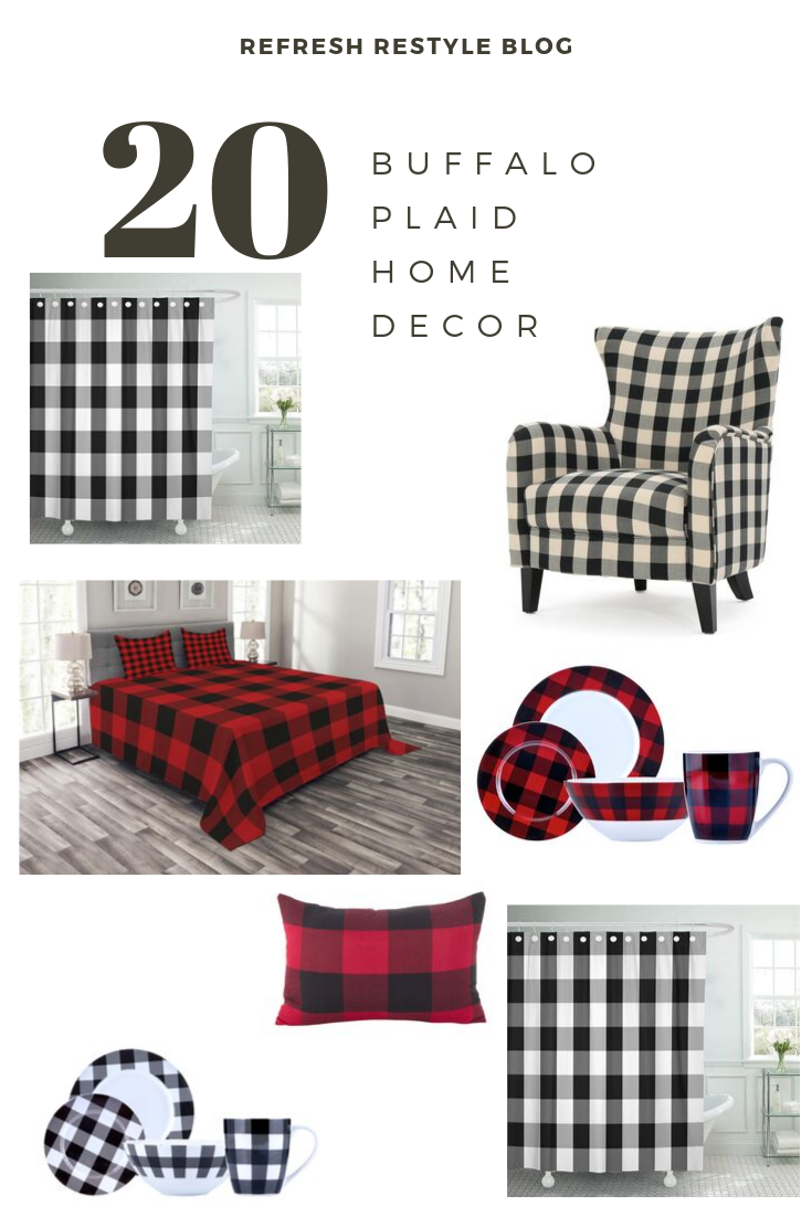 Buffalo Plaid Home Decor Red Black Buffalo Plaid Christmas Decor Plaid Christmas Decor Buffalo Plaid Christmas