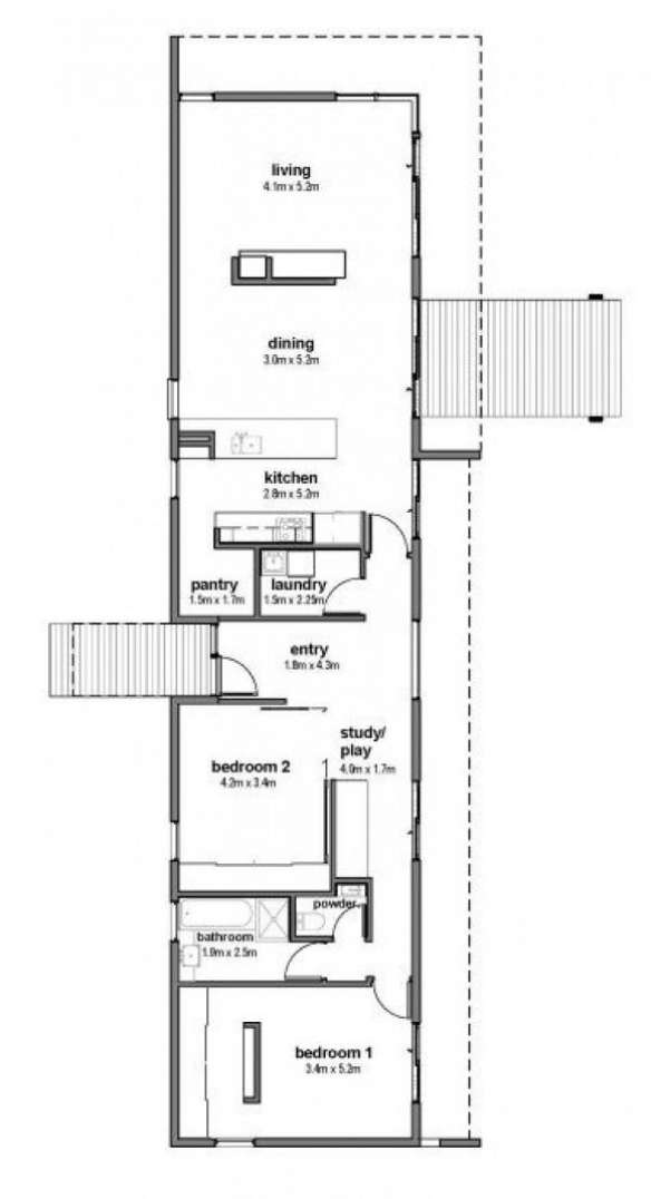 Great Floor Plan For Solar Passive Home In Australia Google Search Howtobuildashed Retiremen Solar House Plans Passive Solar House Plans Narrow House Plans