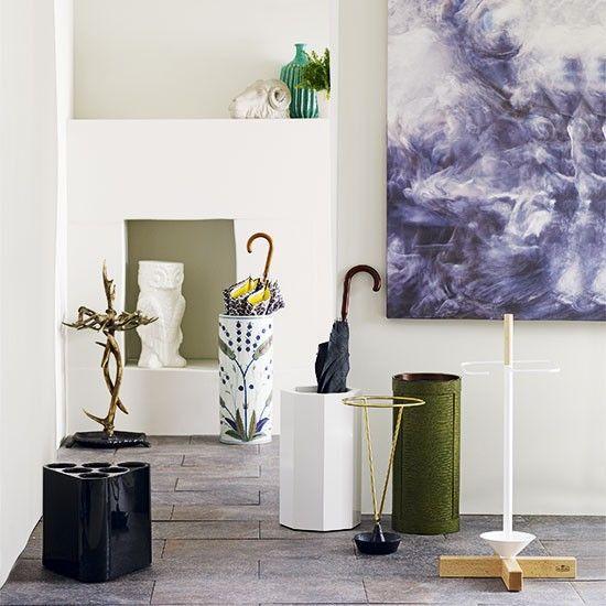 Flur Diele Wohnideen Möbel Dekoration Decoration Living Idea Interiors Home  Corridor   Weiße Moderne Halle Mit