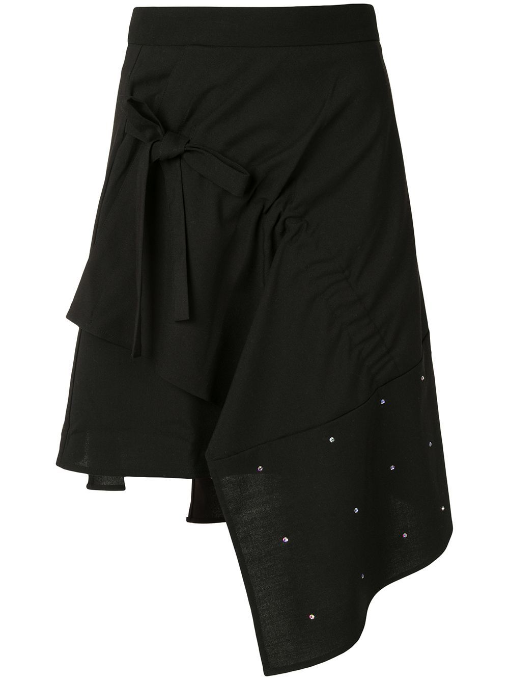 Midnight Walk In Paris~Upcycled Skirt,Asymmetrical Skirt