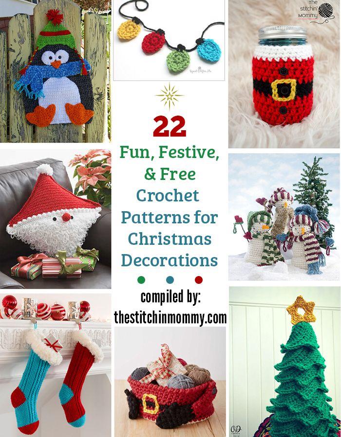 22 Fun, Festive, & Free Crochet Patterns for Christmas Decor ...