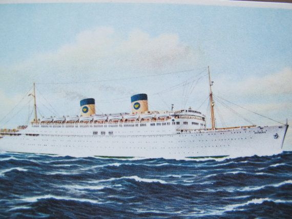 Home Lines SS Homeric Cruise Ship Postcard By AtticEphemera - Homeric cruise ship