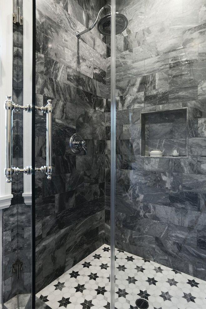 Marble Shower Tile Ideas Dark Grey Marble Shower Tile Ideas