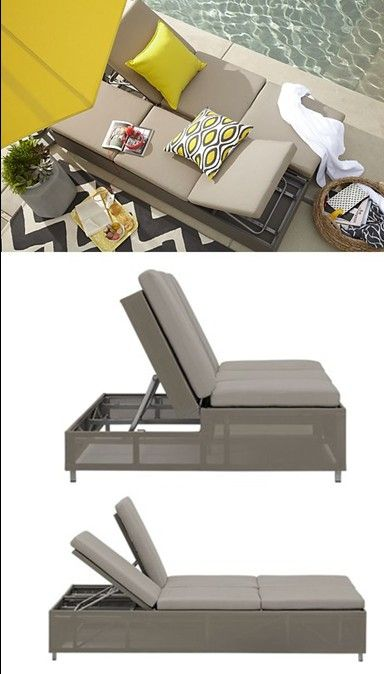 Sofa Lounger Outdoor King Furniture Delta Bed Transforming It S A Two Person And Couch Dune Double Chaise Lounge With Sunbrella Taupe Cushions From Crate