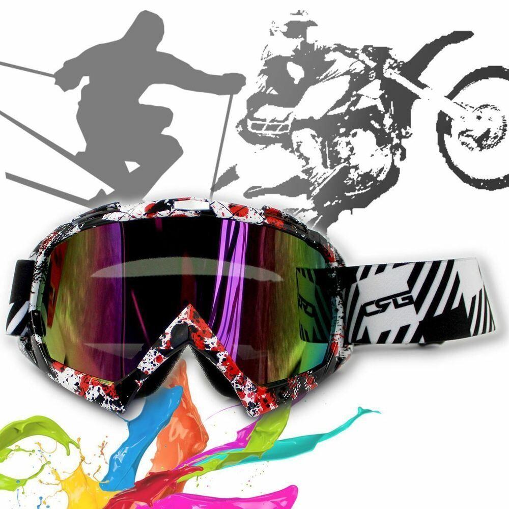 MX Black Frame Tinted lens Motocross MTB Off-Road Dirt ATV Bike Goggles GOOGGLES