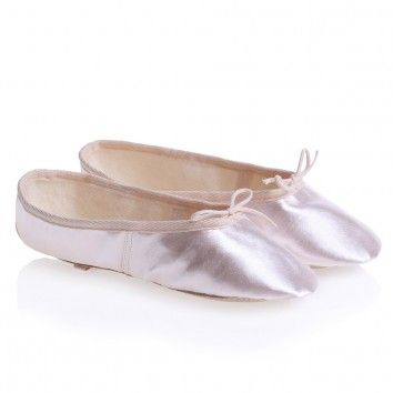 d1f88df7f Rainbow Katz Girls Pink Satin Ballet Shoes With Leather Soles at ...