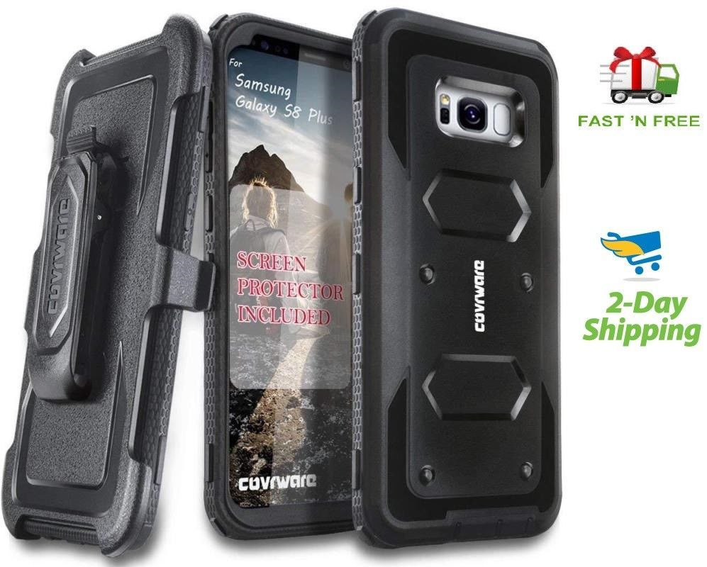 best service 7f9a6 37a39 Details about Samsung Galaxy S8 Plus Heavy Duty Full Body Armor Case ...
