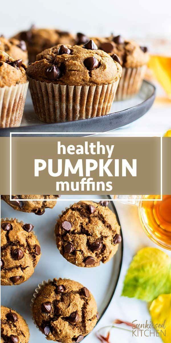 Pumpkin Chocolate Chip Muffins Healthy Pumpkin Muffins / These chocolate chip pumpkin muffins are g