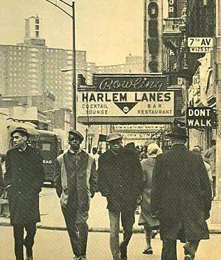 1960's Harlem Lanes 125th st. looking West | Nyc history, Vintage ...