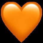 Orange Heart Heart Emoji Emoji Apple Emojis
