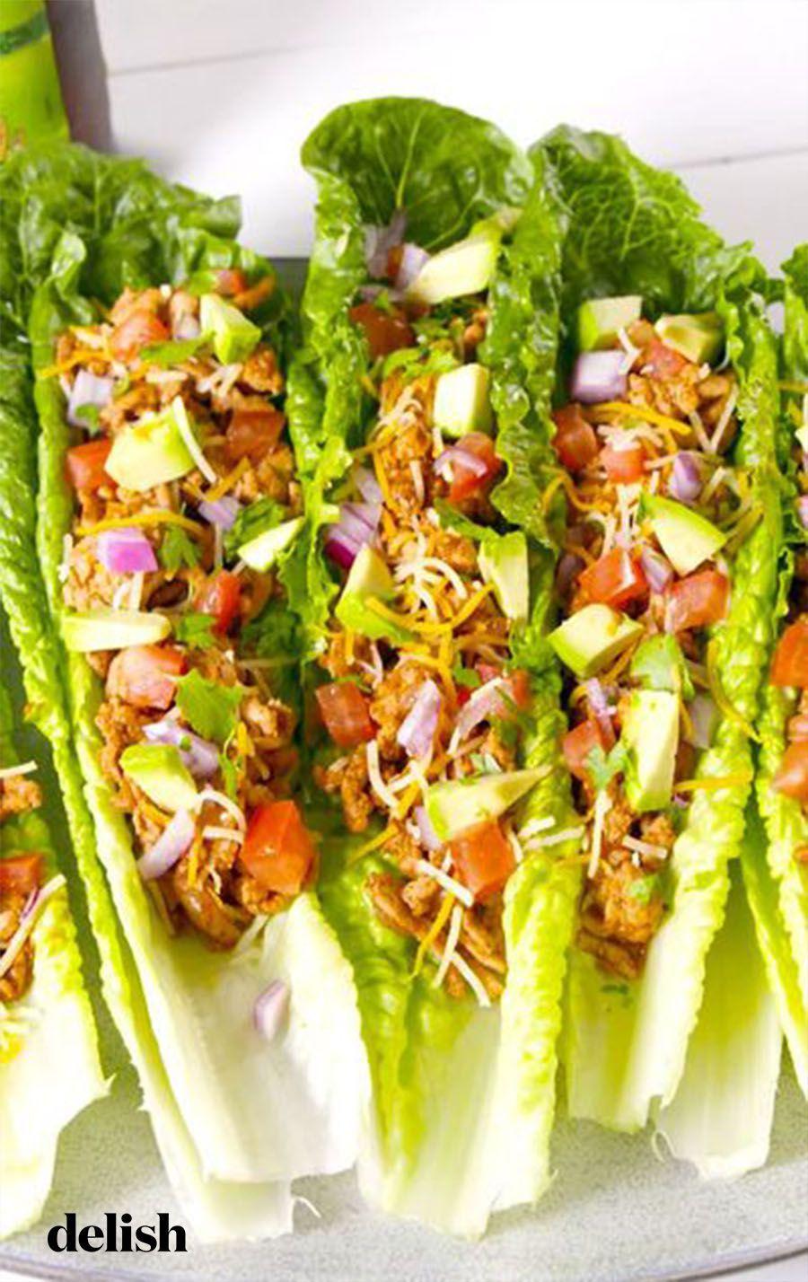 Turkey Taco Lettuce Wraps #groundturkeytacos