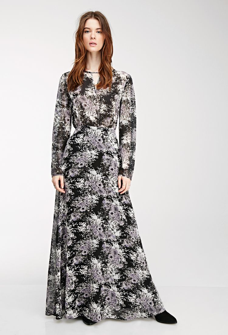 Floral chiffon maxi dress forever modest printed maxi dress