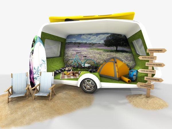 Brand Activation of Alentejo Tourism in Spain - 2011 by Isabel Vargas de Almeida, via Behance