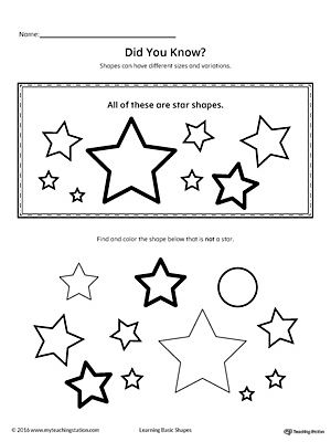 Geometric Shape Sizes And Variations Star With Images Shapes