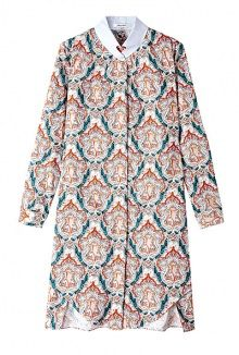 Paisley Print Shirt Collar Dress by Carven  http://rstyle.me/~JPio