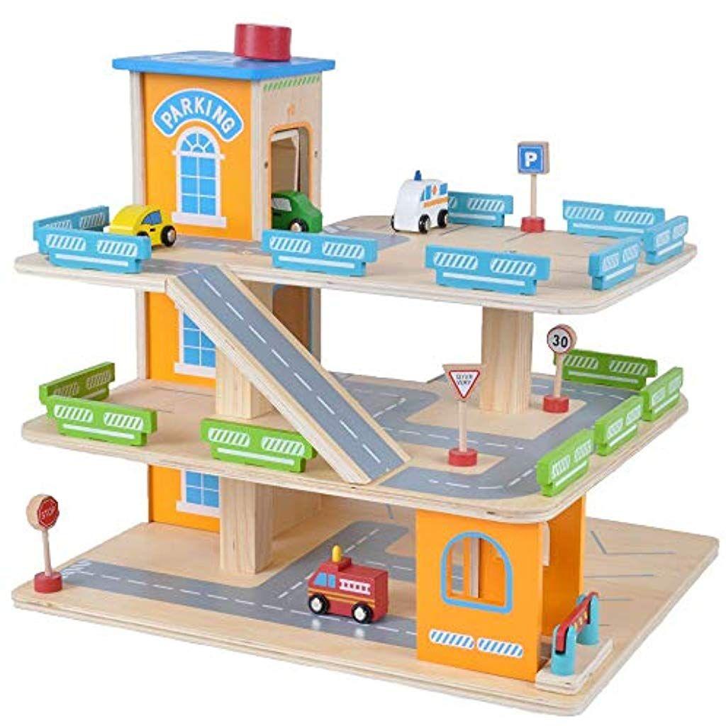 Parkhaus Holz Spielzeug
