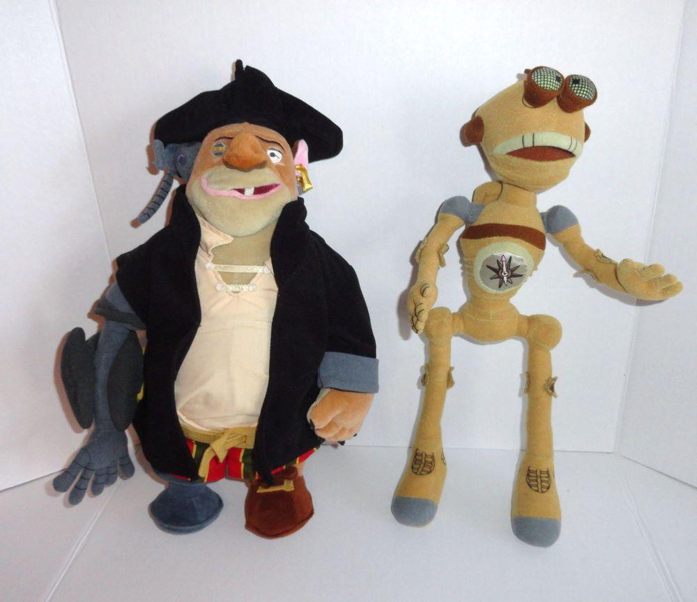 Disney Store TREASURE PLANET John Silver Plush Pirate Doll ...