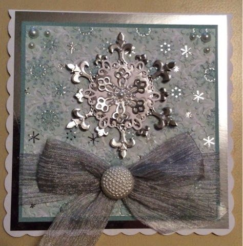 Cards by Brawny: Snowflakes no2