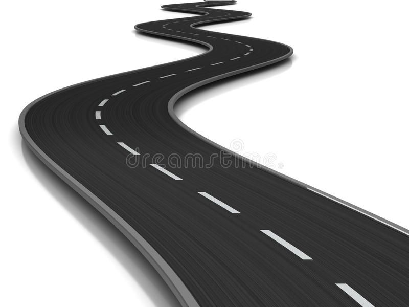 Curved Road 3d Illustration Of Curved Road Over White Background Sponsored Paid Sponsored R In 2020 Business Cards Photography Illustration Illustrations Kids