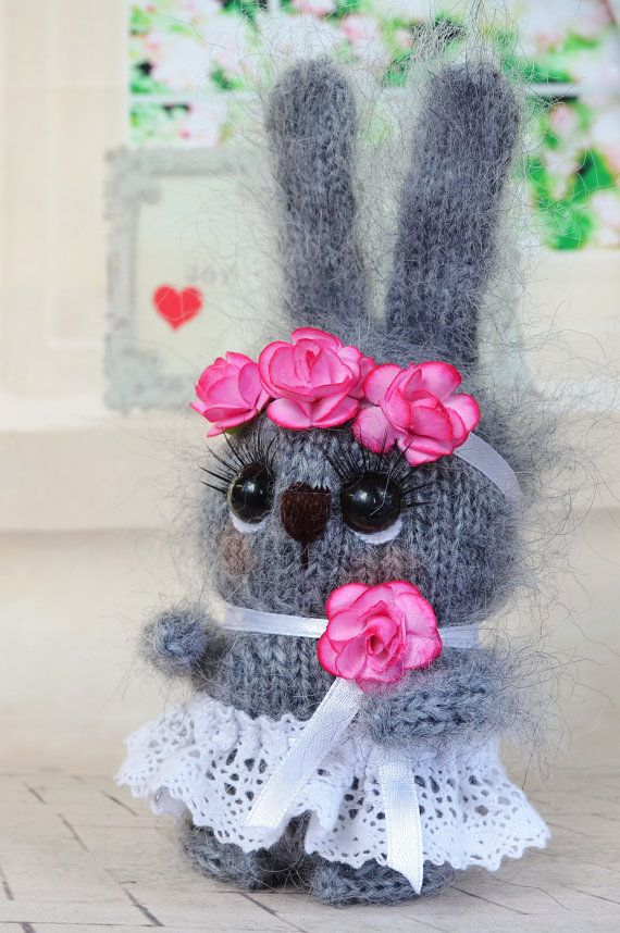 Grey bunny toy easter bunny knitted rabbit easter by prettyballs items similar to grey bunny toy easter bunny knitted rabbit hand knit bunny heart hand knit toy plush rabbit wool toy easter decor easter gift on etsy negle Gallery