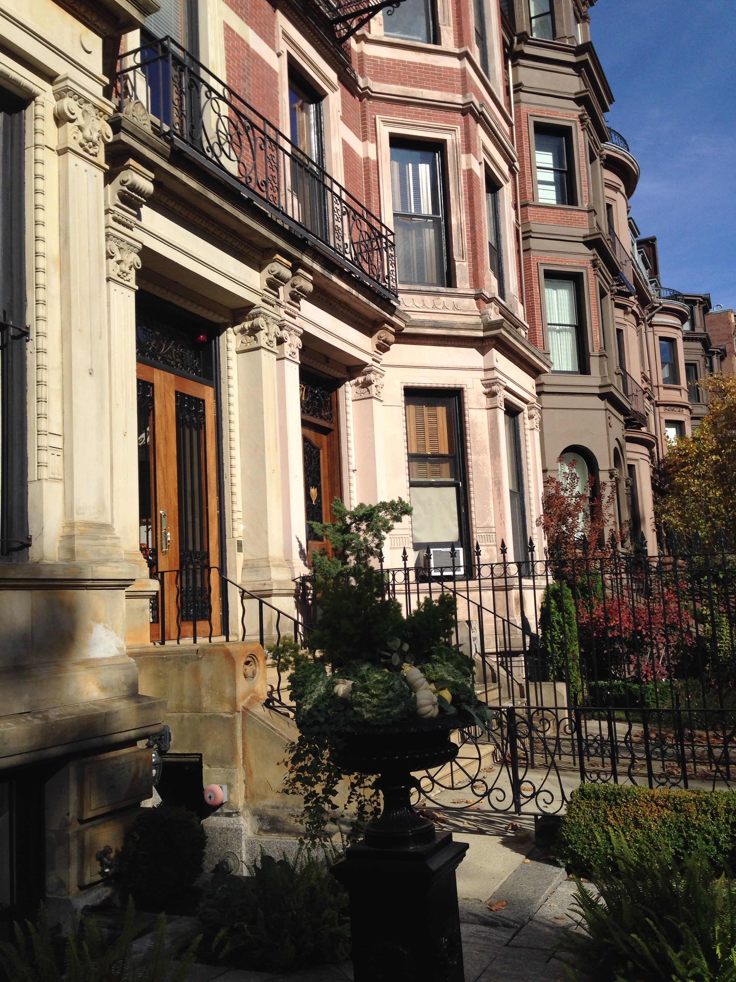 Boston Back Bay | City house, Brick facade, Brownstone
