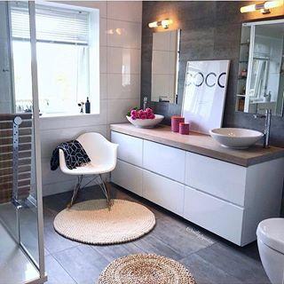 "Photo of Storynorth on Instagram: ""Such a pretty bathroom ? Cred @villapynten . . . . . . . #modernhome #modernarchitecture #moderndesign #bathroomdesign #bathroom #baderom…"""