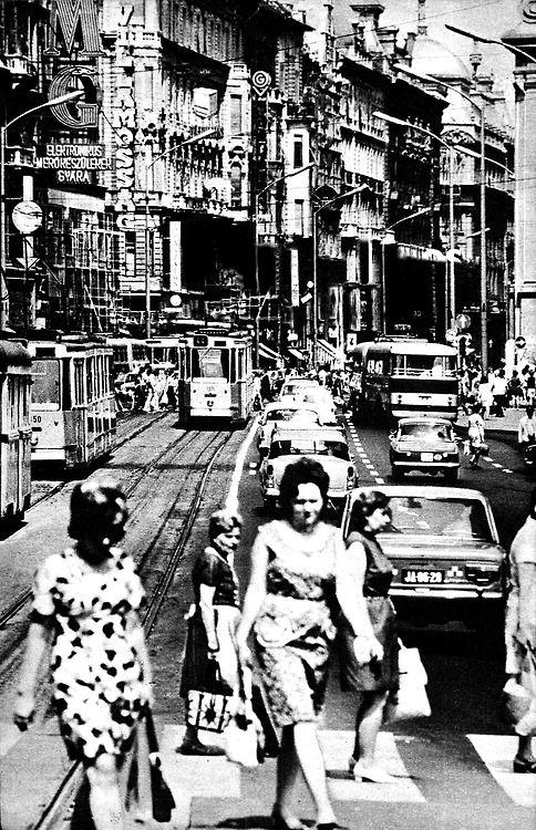 Kossuth Lajos Street, Budapest, Hungary. In: Kincses Kalendárium, 1973. Fotó: Ferenc Berendi. big thx to Gyík-Ember!