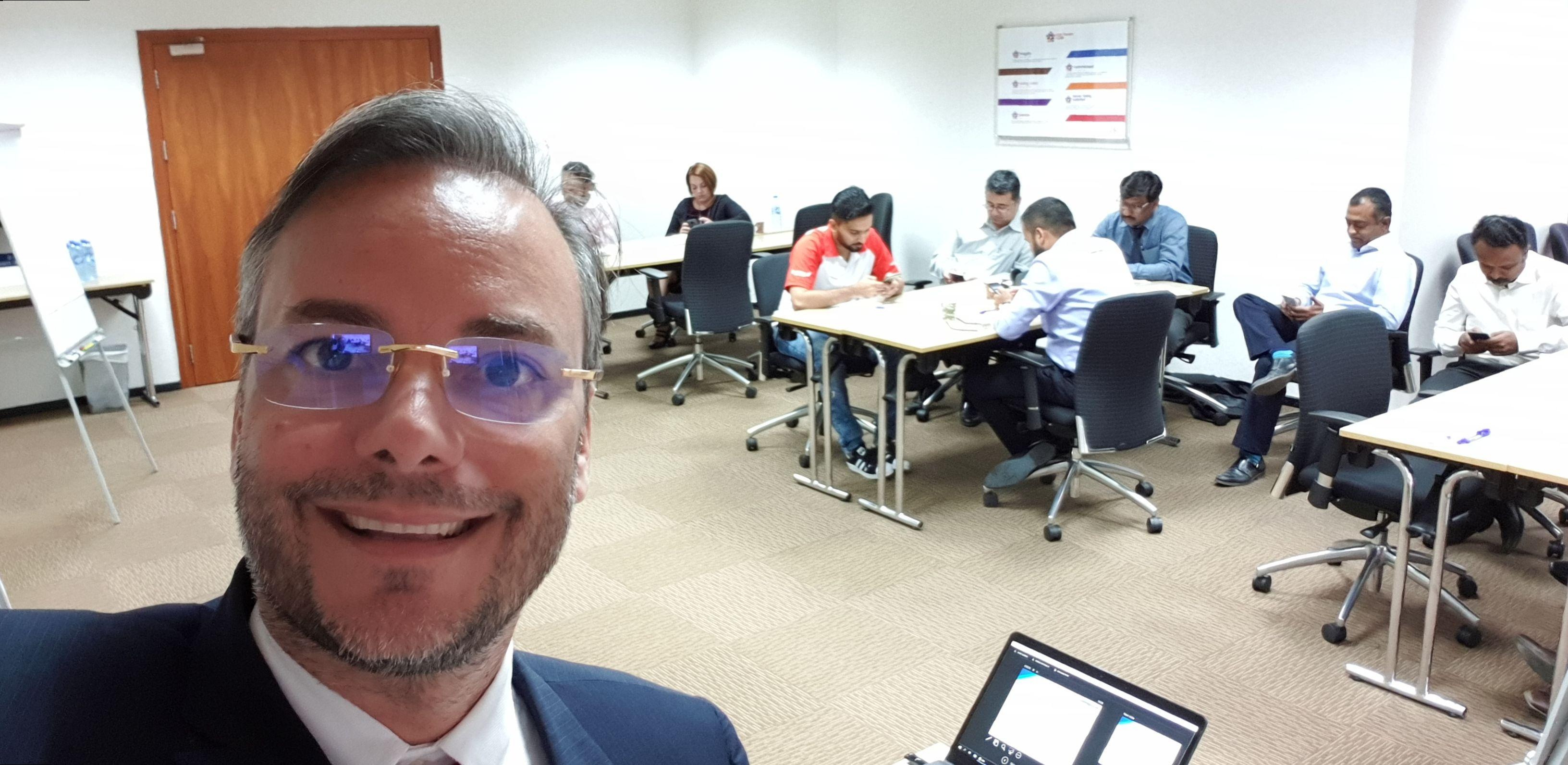 Wow, in my Sociak Selling class, in Al Rostamani Group