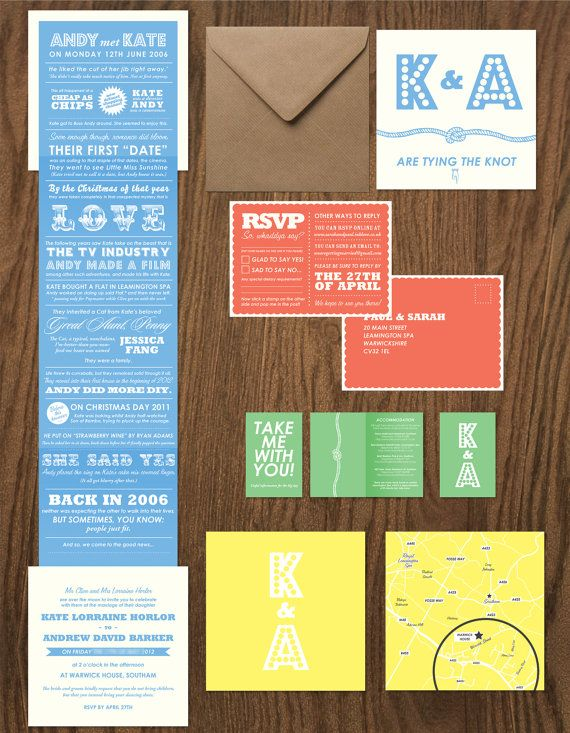 70 x story fold out wedding invitation suite by goodshowstudio