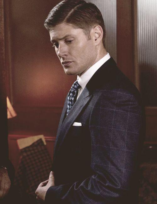 Dean looking spiffy in a suit <3