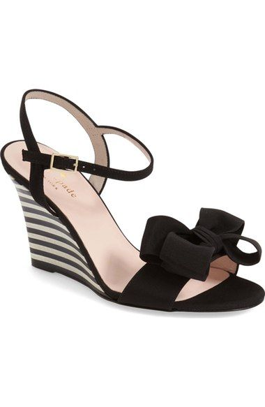 180080667090 kate spade new york  iballa  grosgrain bow wedge sandal (Women) available  at  Nordstrom