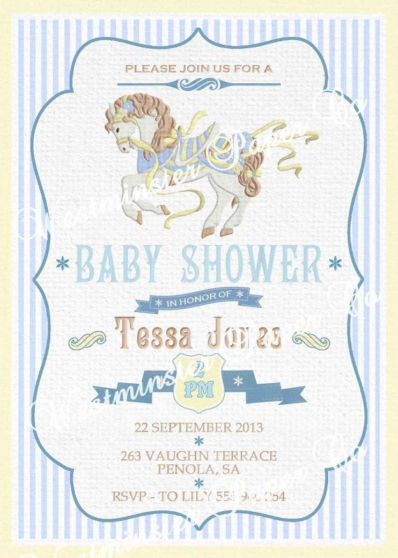 Baby shower invitation carousel horse by westminsterpaperco 2000 baby shower invitation carousel horse by westminsterpaperco 2000 filmwisefo Gallery