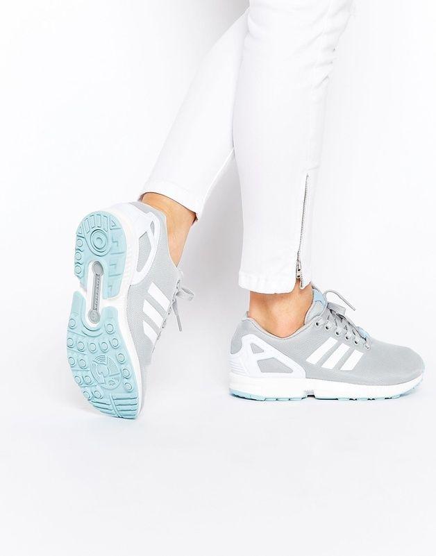 1b248e7282 Adidas Originals - ZX Flux - Baskets - Gris et bleu shoping tenuedujour  lookdujour mode femme ete achat fashion mignon jolie tendance ootd luxe  chaussures ...