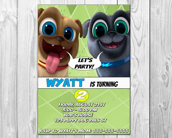 Puppy Dog Pals Birthday Party Invitation Printable Download Puppy Birthday Parties 1st Boy Birthday Twin Birthday Parties