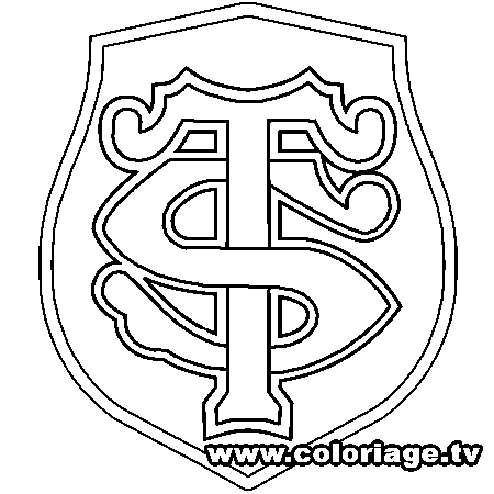 Dessin stade toulousain a colorier rugby stade toulousain coloriage rugby et toulousaine - Coloriage top 14 ...