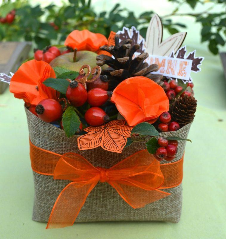 tuto montage floral d 39 automne scrap et d co de tables d cos de table pinterest. Black Bedroom Furniture Sets. Home Design Ideas