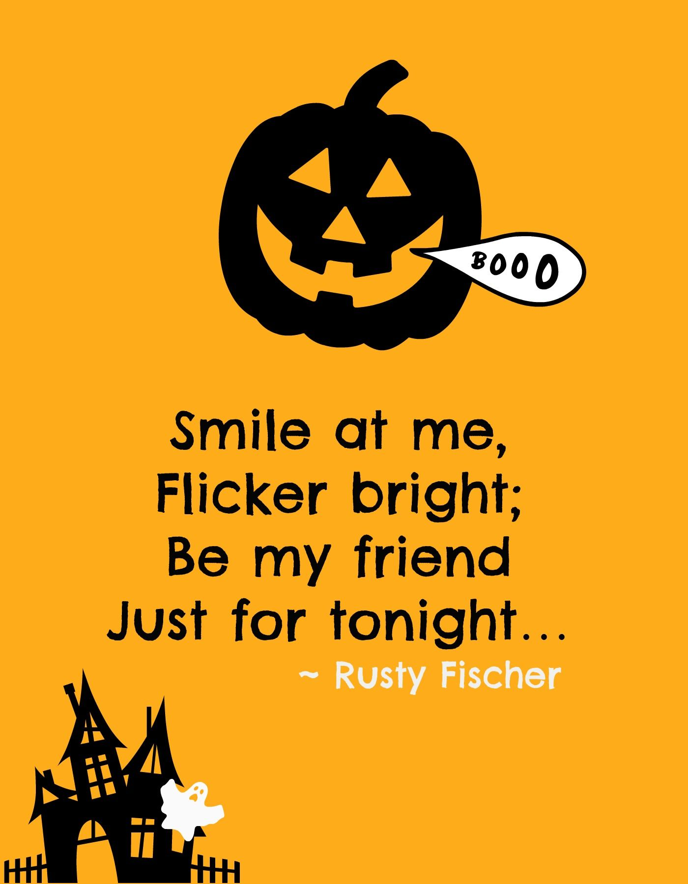 happy halloween Greetings ~ Send halloween e-card | Wish ... |Halloween Poems For Friends